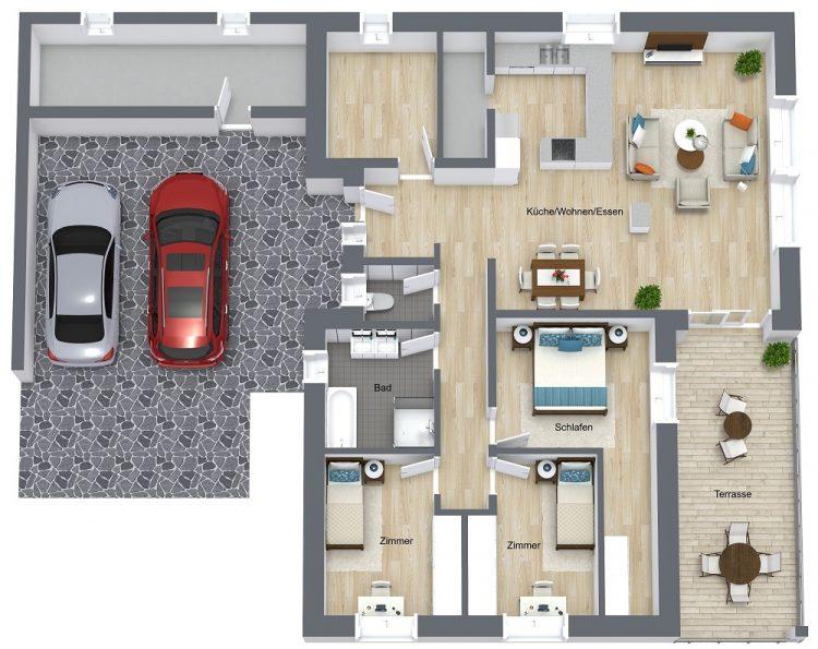 Judendorf_Picea – Etage 1 – 3D Floor Plan